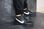 Женски кроссовки Nike Air Force (черно-белые), фото 3