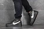 Женски кроссовки Nike Air Force (черно-белые), фото 4