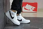 Женски кроссовки Nike Air Force (бело-черные), фото 4
