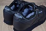 Мужские зимние кроссовки Reebok Classic (черные), фото 2