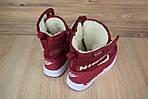 Женские зимние дутики Nike Zoom (бордовые), фото 5