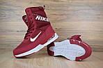 Женские зимние дутики Nike Zoom (бордовые), фото 6