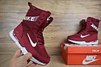 Женские зимние дутики Nike Zoom (бордовые), фото 8