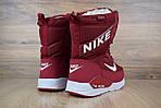 Женские зимние дутики Nike Zoom (бордовые), фото 9