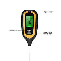 Аналізатор ґрунту 4 в 1 (pH метр, вологомір, термометр і люксметр), фото 3