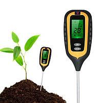 Аналізатор ґрунту 4 в 1 (pH метр, вологомір, термометр і люксметр), фото 5