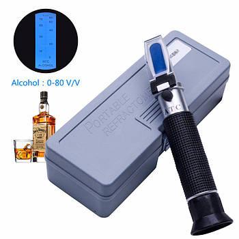 Рефрактометр для спиртных напитков RHW-80ATC (0-80 % Vol)