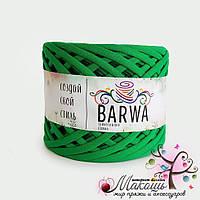 Трикотажная пряжа Барва, стандарт 7-9 мм, зеленый