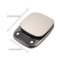 Весы кухонные HT-C305 10 кг (проверенные, с батарейками), фото 2