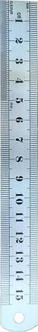 Линейка измерительная металлическая 15см, фото 2
