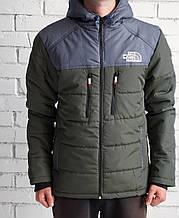 Куртка The North Face, серо-зеленая