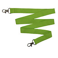Шнурок для бейджа с 2-мя карабинами полиэстеровый