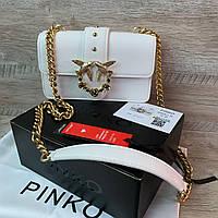 Женская белая сумка Pinko Пинко