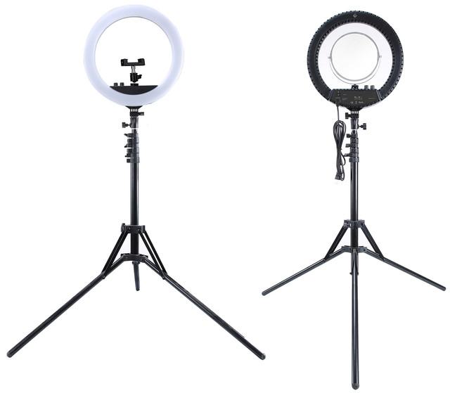 Профессиональная кольцевая лампа MakeUp RL-18II с штатив-треногой для косметологии