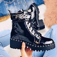 Ботинки лаковые черные, фото 1
