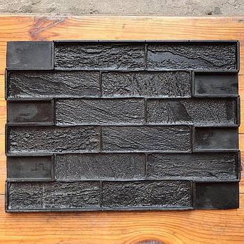 """Форма для декоративного каменю і плитки """"Пісочний цегла"""" на 12 плиток, гумова, безшовна"""