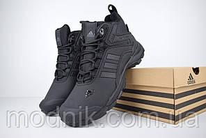 Мужские зимние кроссовки Adidas Climaproof (черные)