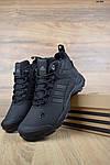 Мужские зимние кроссовки Adidas Climaproof (черные), фото 8