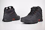 Мужские зимние кроссовки Adidas Climaproof (черно-красные), фото 2
