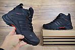 Мужские зимние кроссовки Adidas Climaproof (черно-красные), фото 4