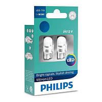 Автолампи LED Philips Ultinon T10 (W5W), 4000K (Теплий белий), 12V (2 штуки)