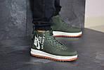 Мужские кроссовки Nike Air Force 1 (темно-зеленые), фото 2