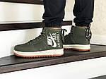 Мужские кроссовки Nike Air Force 1 (темно-зеленые), фото 3