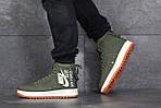Мужские кроссовки Nike Air Force 1 (темно-зеленые), фото 4