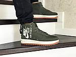 Мужские кроссовки Nike Air Force 1 (темно-зеленые), фото 5