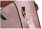 Набор женских сумок 3 предмета с брелком коричневого цвета 01186, фото 4
