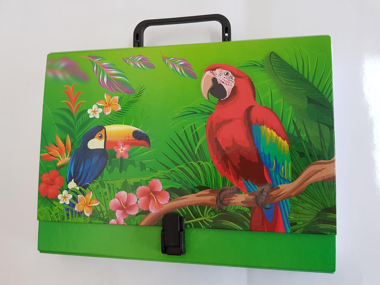 Портфель на замке, 40 мм, А4, полноцветный, PP-покрытие