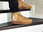 Мужские кроссовки Nike Air Force 1 (горчичные), фото 4