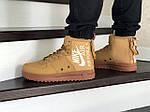 Мужские кроссовки Nike Air Force 1 (горчичные), фото 5