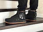 Мужские кроссовки Nike Air Force 1 (черные), фото 2