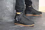 Мужские кроссовки Nike Air Force 1 (черные), фото 3
