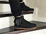 Мужские кроссовки Nike Air Force 1 (черные), фото 4