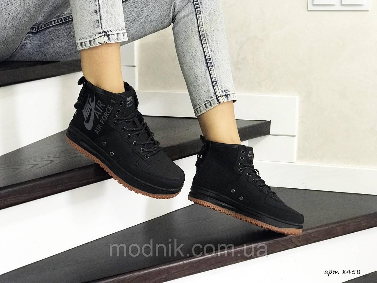 Женские кроссовки Nike Air Force 1 (черные)