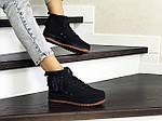 Женские кроссовки Nike Air Force 1 (черные), фото 2