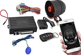 Универсальная автомобильная сигнализация Car Alarm 2 Way KD 3000 APP с сиреной (5544) #S/O
