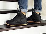Мужские зимние кроссовки Nike Lunar Force 1 (черно-коричневые), фото 2
