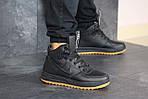 Мужские зимние кроссовки Nike Lunar Force 1 (черно-коричневые), фото 4