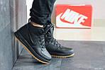 Мужские зимние кроссовки Nike Lunar Force 1 (черно-коричневые), фото 5