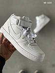 Чоловічі кросівки Nike Air Force High (білі) ЗИМА, фото 2