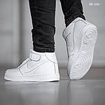 Чоловічі кросівки Nike Air Force High (білі) ЗИМА, фото 3