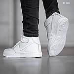 Мужские кроссовки Nike Air Force High (белые) ЗИМА, фото 3