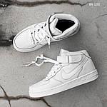 Чоловічі кросівки Nike Air Force High (білі) ЗИМА, фото 5