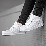 Чоловічі кросівки Nike Air Force High (білі) ЗИМА, фото 6
