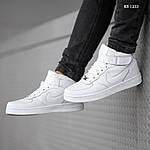 Мужские кроссовки Nike Air Force High (белые) ЗИМА, фото 6