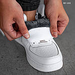 Чоловічі кросівки Nike Air Force High (білі) ЗИМА, фото 7