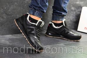Чоловічі кросівки New Balance 574 (чорні/руді) ЗИМА